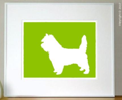 mod cairn terrier art print